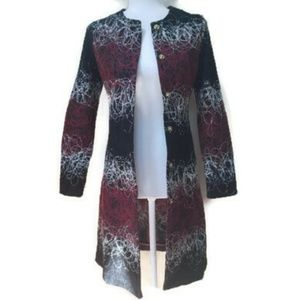 MaxMara Embroidered Graphic Long Jacket